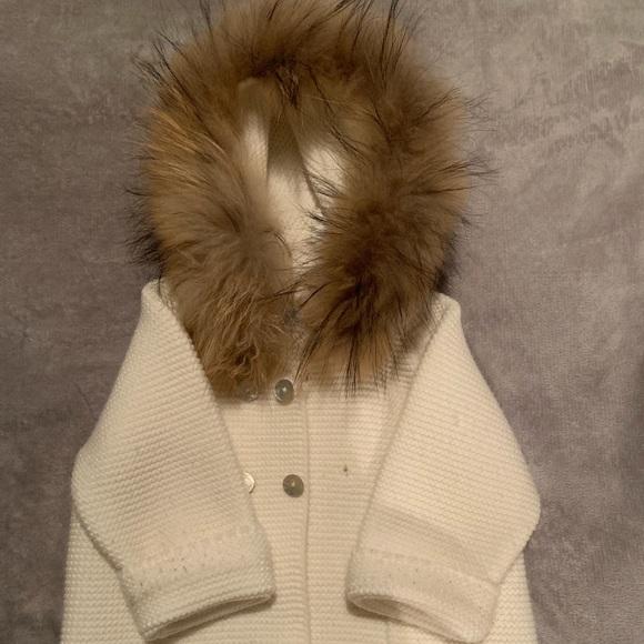 pangasa Other - Baby girl fur hood cardigan